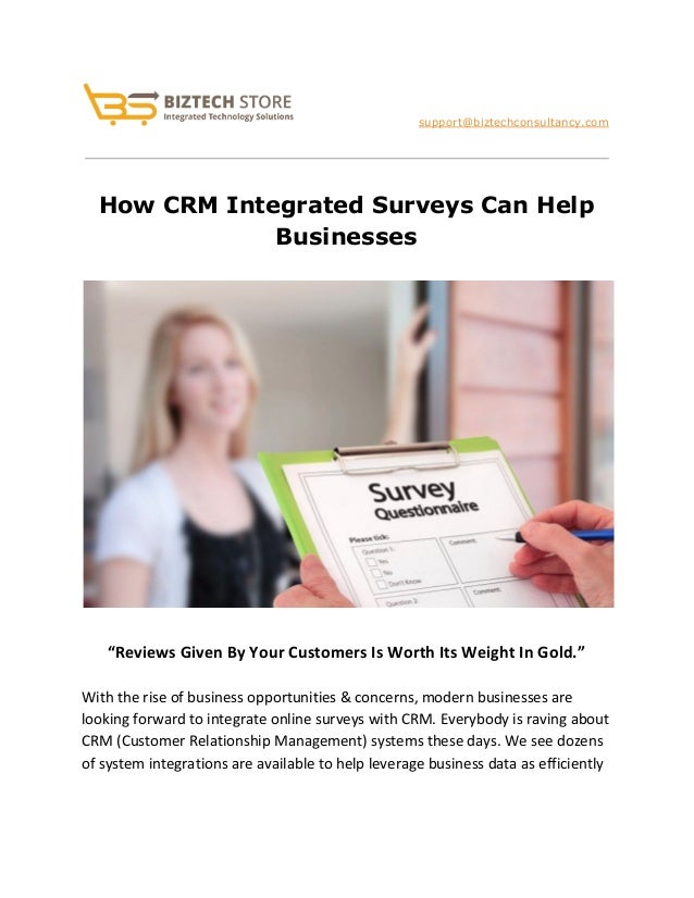 crm surveys how crm integrated surveys can help businesses 3549