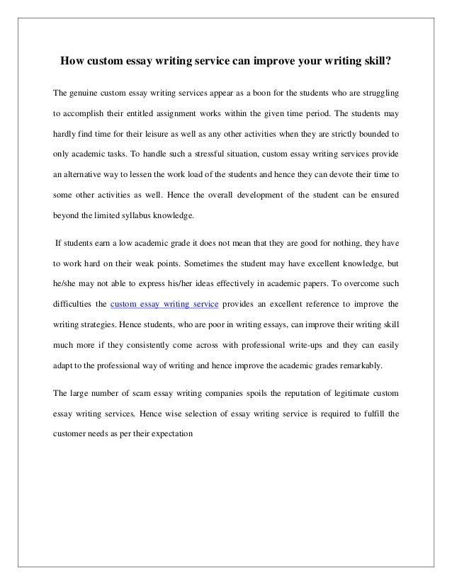 Service improvement essay