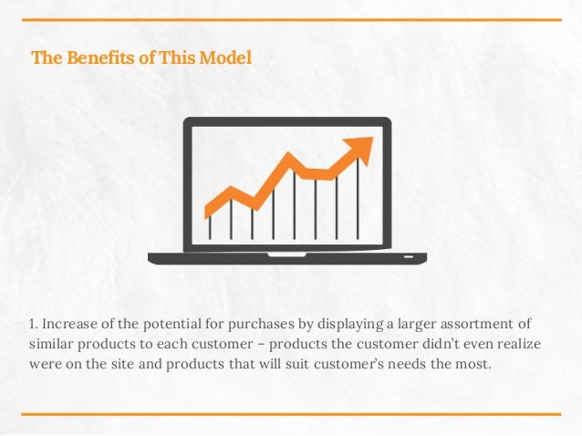 The Benefits of This Model 1. Increase of the potential for purchases by displaying a larger assortment of similar product...