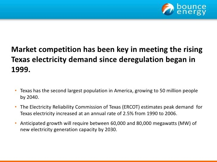 deregulation and competition between utility companies In addition, retail customers may purchase electricity supply from 100 percent  renewable sources from competitive suppliers if their local utility company does  not.
