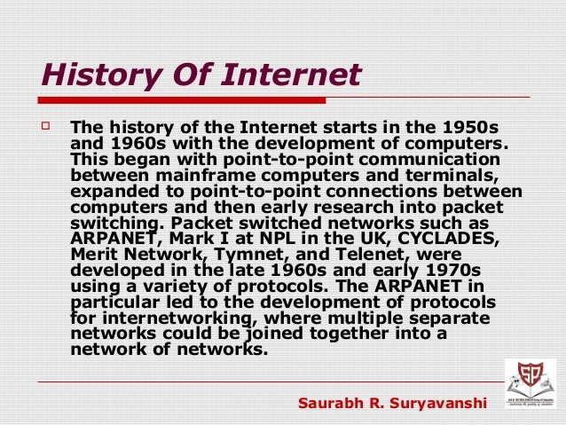 an introduction to the history of the internet a huge network of computers The history of computers  basics famous inventors patents & trademarks timelines computers & internet american history  but the big difference was that the.