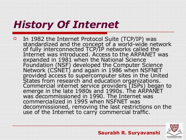 invention of the internet research The history of the internet begins with the development of electronic computers in  the 1950s  in the 1980s, research at cern in switzerland by british computer  scientist tim berners-lee resulted in the world wide web, linking hypertext.