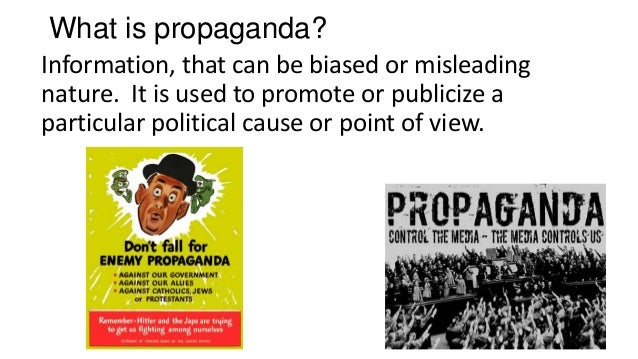 what is propaganda The lessons of propaganda have had ramifications for the post-1945 world up to the present day.