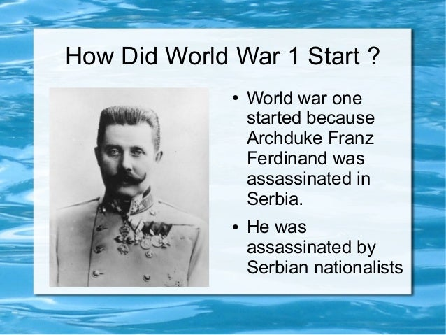 why did world war 1 start essay First world warcom  feature articles - the causes of world war one june 28 in sarajevo we'll start with the facts and work back:.