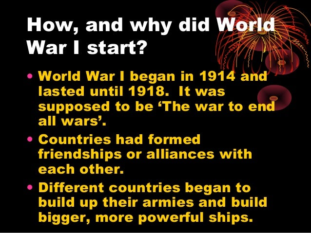 How did WW2 start?