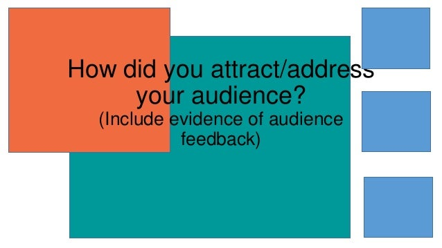 How did you attract/address your audience? (Include evidence of audience feedback)