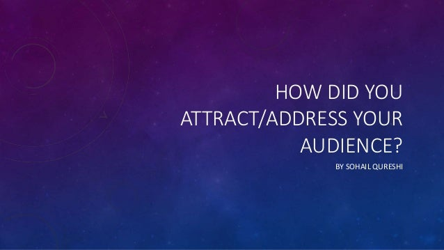 HOW DID YOU ATTRACT/ADDRESS YOUR AUDIENCE? BY SOHAIL QURESHI