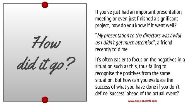 Did a presentation