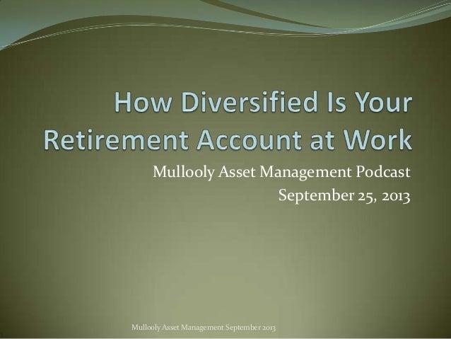 Mullooly Asset Management Podcast September 25, 2013  Mullooly Asset Management September 2013
