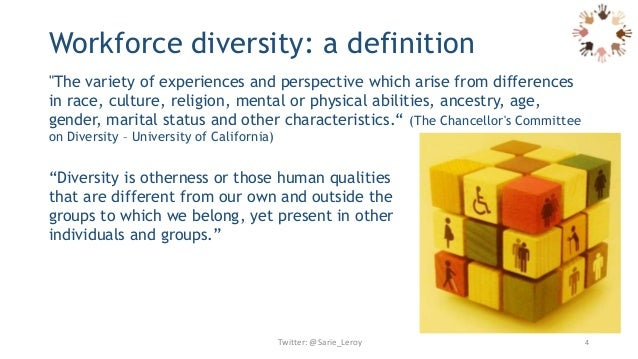 diversity in the workplace and implications The 2001 paper cultural diversity at work: the effects of diversity perspectives on work group processes and outcomes talks about three.