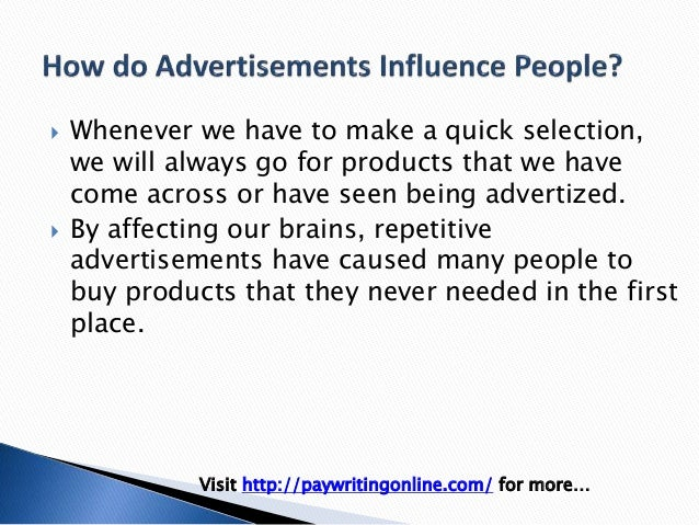 how do ads effect people Color psychology: does it affect how you feel share pin email search the site go more in theories cognitive psychology how do people respond to different colors.