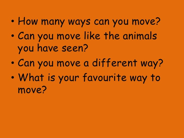 how do animals move