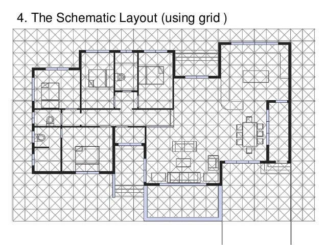 the schematic layout using grid - Design A House