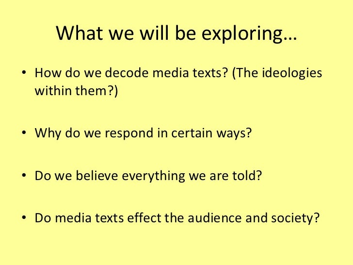 How do audiences read media texts Slide 2
