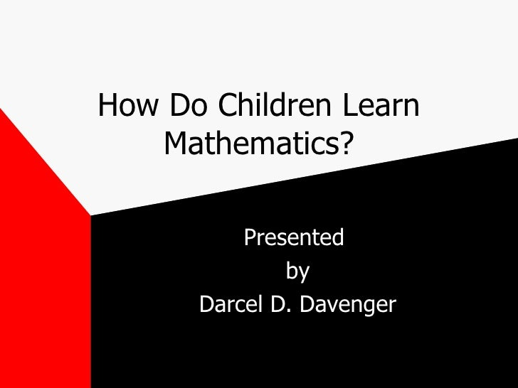 Helping Children Learn Math at Home - Math and Science