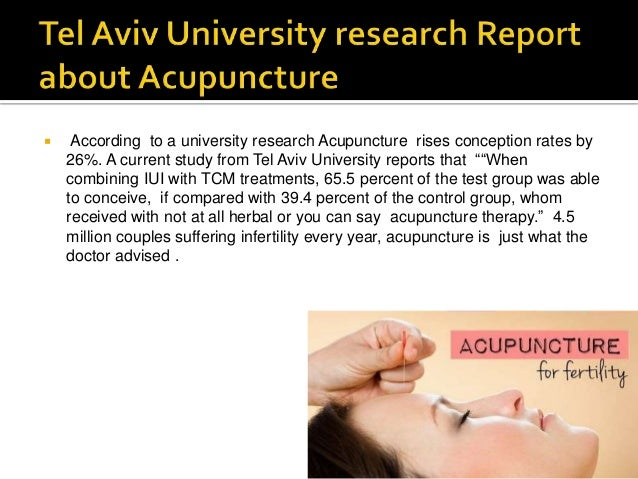 acupuncture and fertility studies