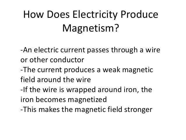 how does a magnet produce electricity