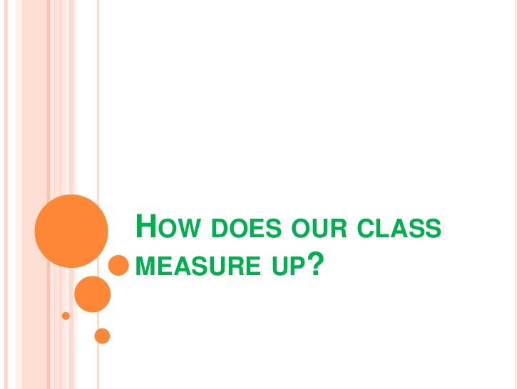 HOW DOES OUR CLASSMEASURE UP?