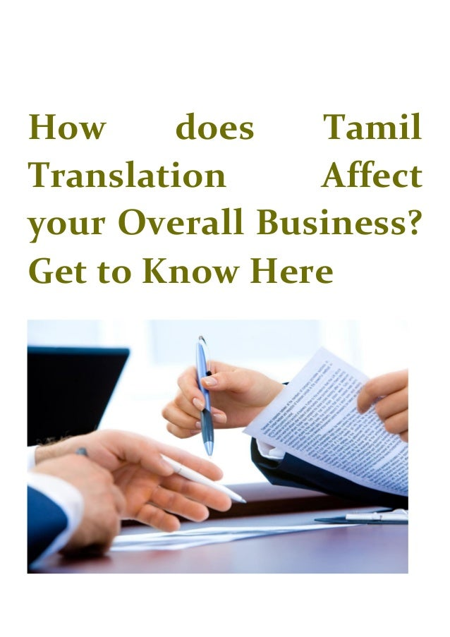 How does Tamil Translation Affect your Overall Business? Get to Know Here