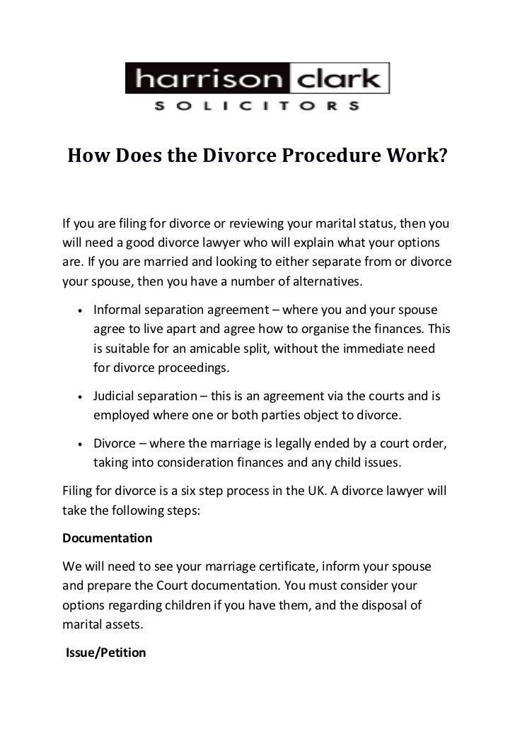How Does The Divorce Procedure Work