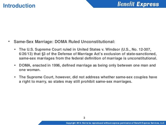 Same-Sex Marriage: An Introduction