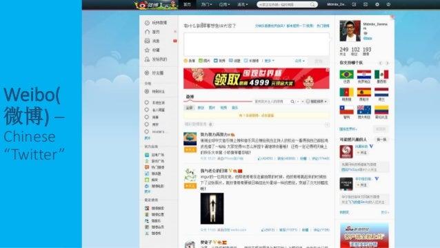 """Weibo( 微博) – Chinese """"Twitter"""""""