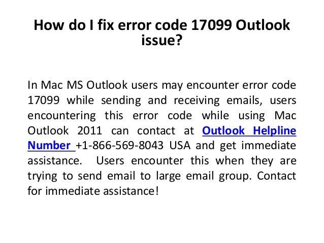 Outlook For Mac Error Code -18000 - aspawgadget's blog