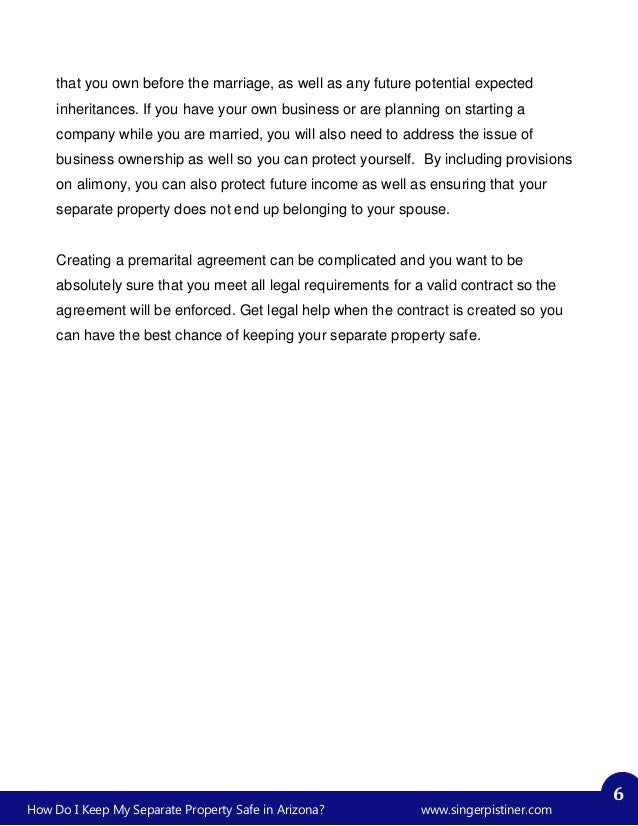 Prenuptial Agreement In Arizona Images Agreement Letter Format