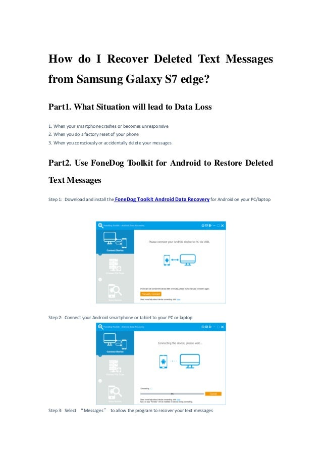 How do i recover deleted text messages from samsung galaxy