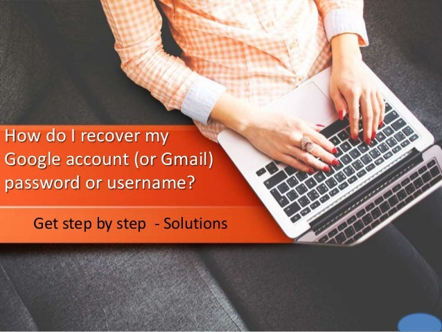 How do i recover my google account (or gmail) password or