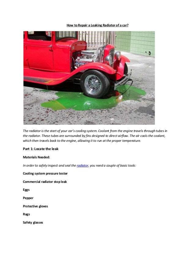 Partsavatar Auto Parts Canada How Do I Repair A Leaking Radiator O
