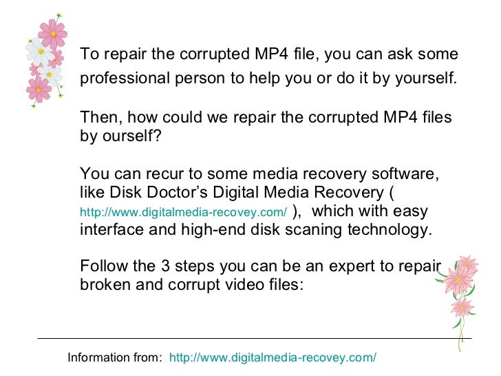 Repair Corrupted Media