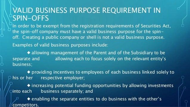 How do i spin-off a subsidiary?