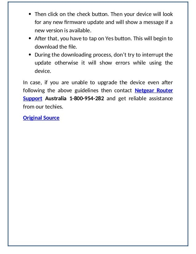 How do I update Netgear router firmware with check button?