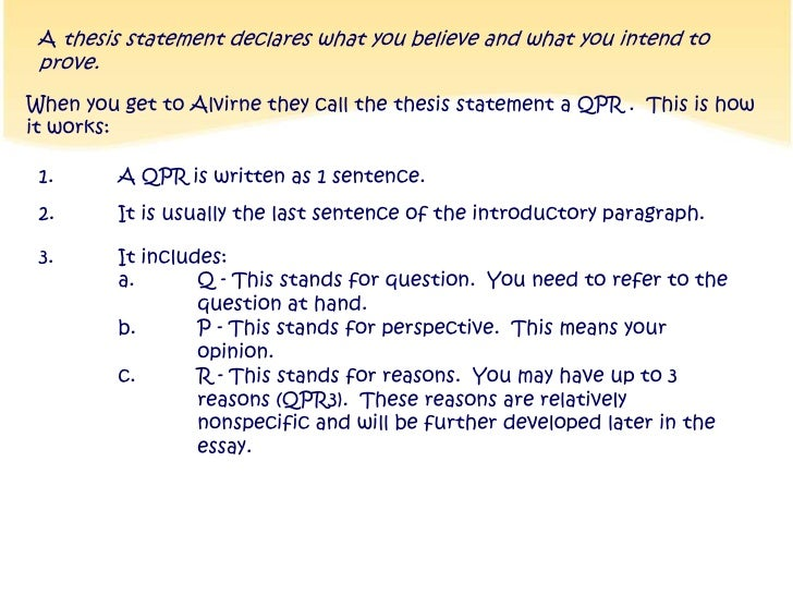 How Do I Write A Thesis Statement Qpr Br   A Thesis Statement