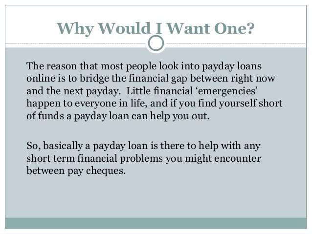 How do payday loans work