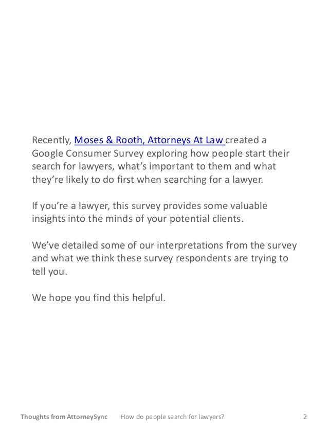 How do people find and hire lawyers? Slide 2