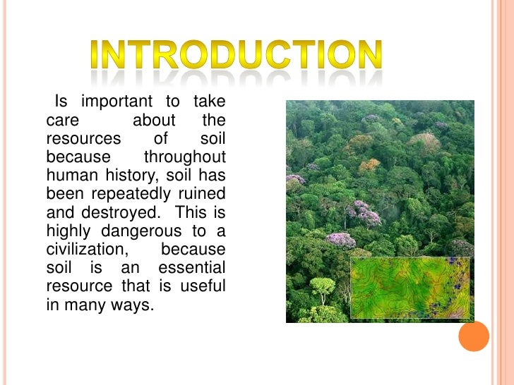 How do people use soil final for Soil as a resource introduction
