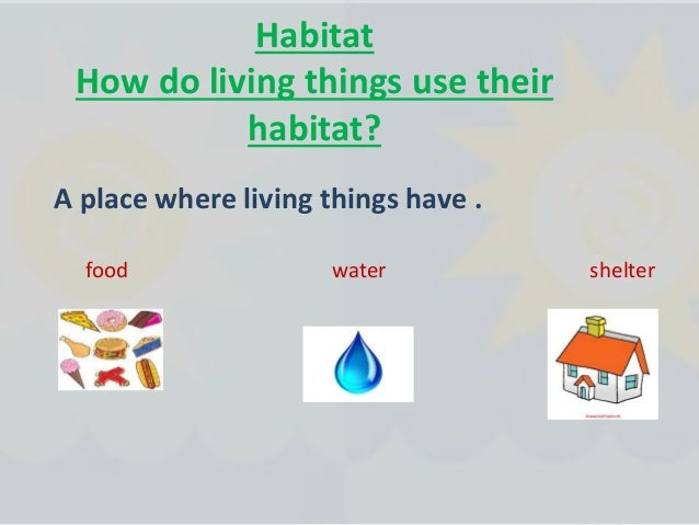 How are the habitats alike? They provide what animal needs to live