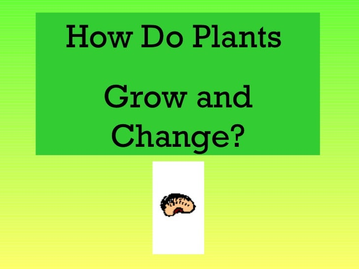 How Do Plants  Grow and  Change?