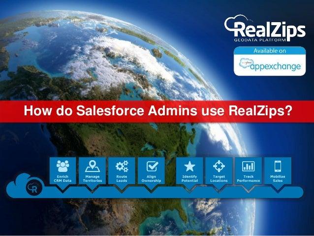 How do Salesforce Admins use RealZips?
