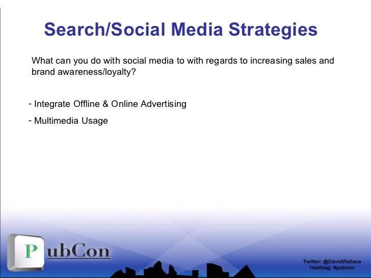 Search/Social Media Strategies <ul><li>Integrate Offline & Online Advertising </li></ul><ul><li>Multimedia Usage </li></ul...