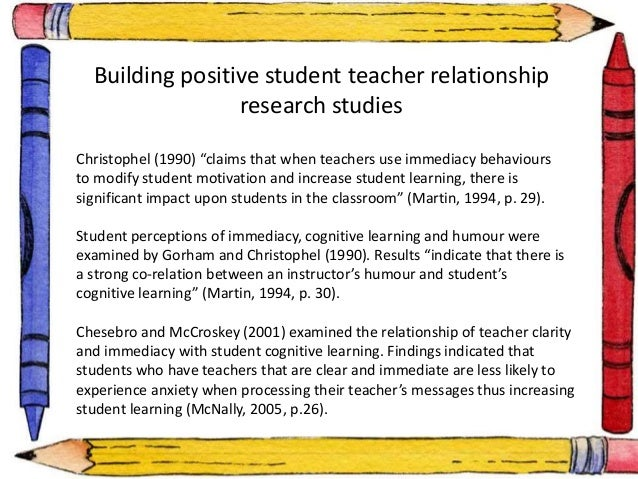 building a positive relationship with students