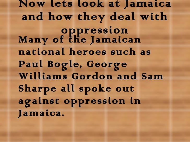 opression of caribbean peole At-trinidadi, as his nom de guerre suggests, is from the caribbean island of   yet still there are people making the long and precarious 6,000-mile  with its  call to end corruption and oppression and to return to a simpler,.