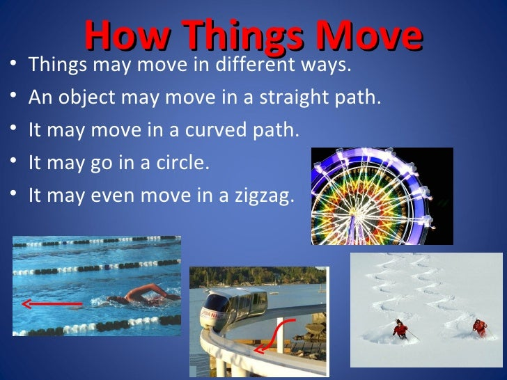 How do things move ppt 3 for Places to move to