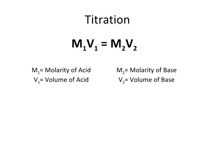titration formula