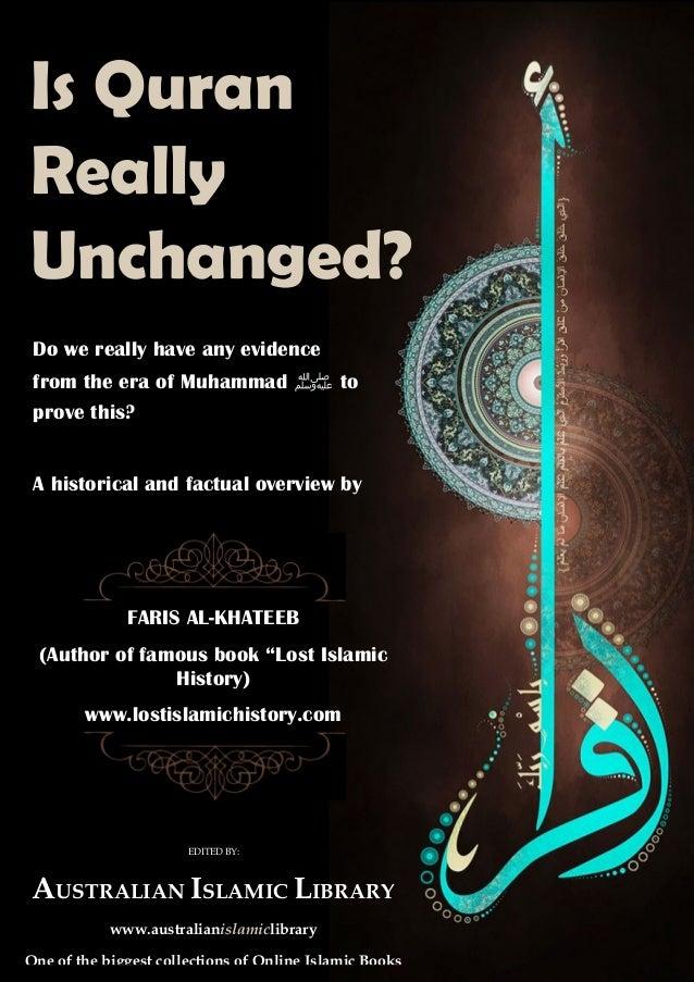 "FARIS AL-KHATEEB (Author of famous book ""Lost Islamic History) www.lostislamichistory.com EDITED BY: AUSTRALIAN ISLAMIC LI..."