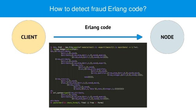 How to detect fraud Erlang code?