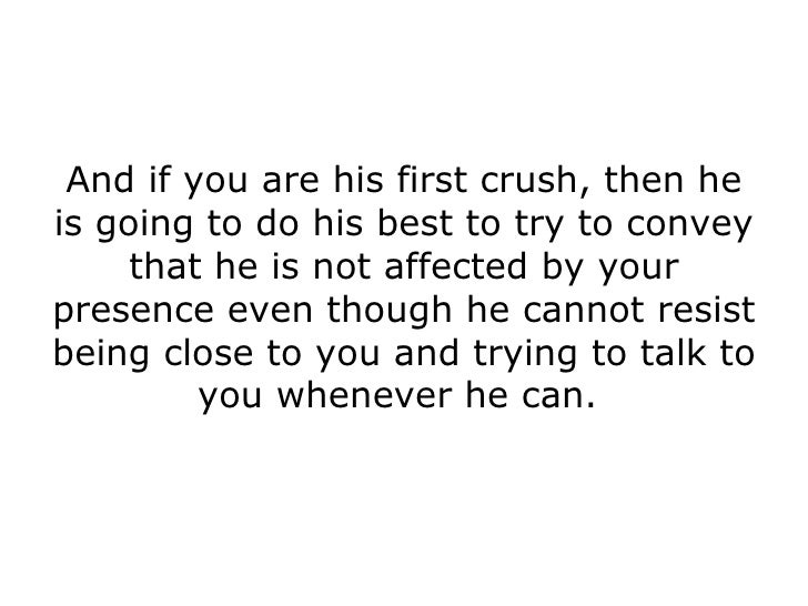 Signs a boy has a crush on you
