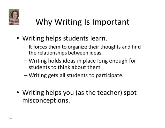 writing helps you learn